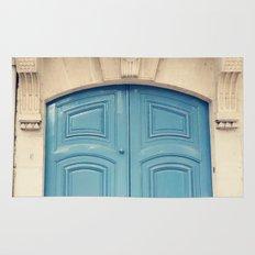 Paris door, pastel blue II Rug
