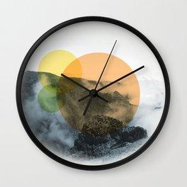Sunrise on a mountian Wall Clock