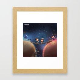 When Two Worlds Meet Framed Art Print