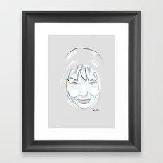 Portrait: Bjork Framed Art Print