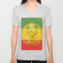 Conquering Lion of Judah Reggae Master Unisex V-Neck