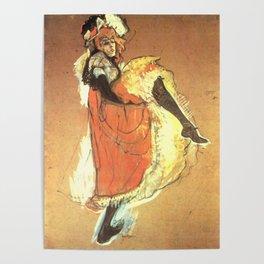 """Henri de Toulouse-Lautrec """"Jane Avril Dancing"""" Poster"""