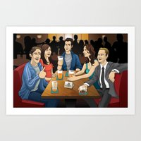 how i met your mother Art Prints featuring How I Met Your Mother by Michael Duhamel