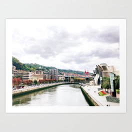 Bilbao autumn Art Print