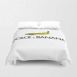 Dolce & Banana white BG Duvet Cover
