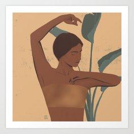 tropical golden Art Print