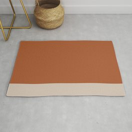 Minimalist Solid Color Block in Clay and Putty Rug