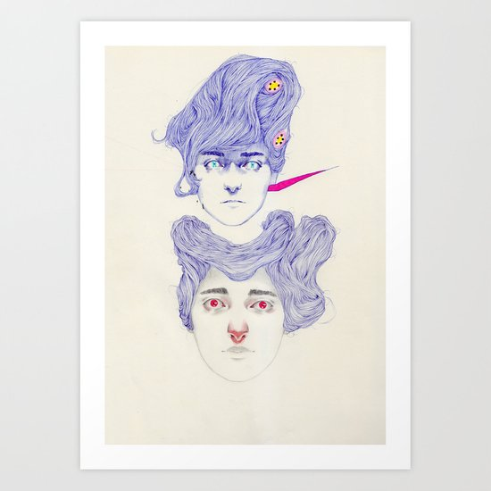 Hair Play 08.2 Art Print