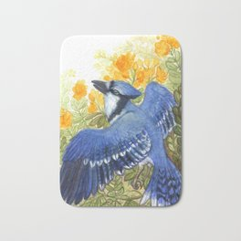 Blue Jay in the Cassia Thicket Bath Mat