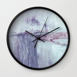 Lilac horizontal abstract Wall Clock