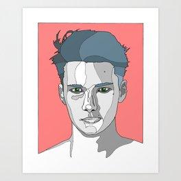 Stubborn Art Print