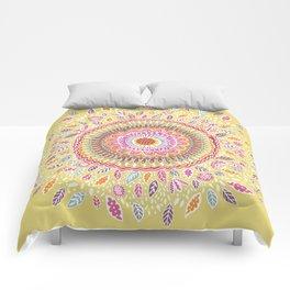 Yellow Sunflower Mandala Comforters