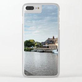 The habour of the city of Dinan Clear iPhone Case
