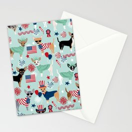 Chihuahua fourth of july patriotic america summer dog gifts home decor chihuahuas Stationery Cards