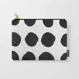 Black Dots Carry-All Pouch