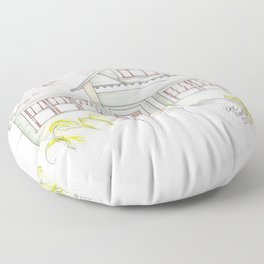 Green Craftsman Floor Pillow