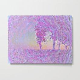 Beach Pink Metal Print