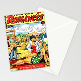 Teen romance 1950's style Stationery Cards