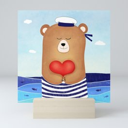Nautical love Mini Art Print