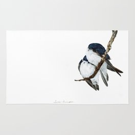 Togetherness - Tree Swallows by Teresa Thompson Rug