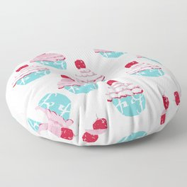 Who at my cupcake? Floor Pillow