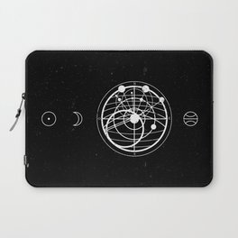 Astrology Compass Black Laptop Sleeve