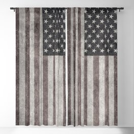 US Flag in grungy vintage Blackout Curtain