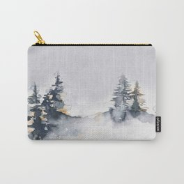 Watercolor Pine Carry-All Pouch