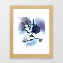 Blue Bubble Abstract Law of Attraction Symbol Framed Art Print