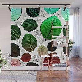 Bold Leaf Design Wall Mural