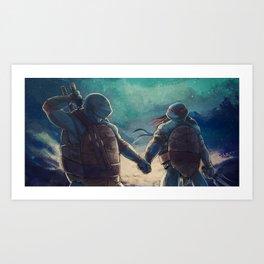 Leonardo and Raphael Kunstdrucke