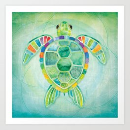 Shanti Sparrow: Byron the Turtle Art Print