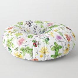 Plants & Herbs Alphabet Floor Pillow