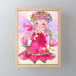 Tulip fairy Framed Mini Art Print