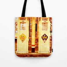 Vintage Gas Pumps :) Tote Bag