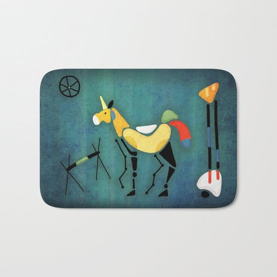 Surrealist Unicorn Bath Mat