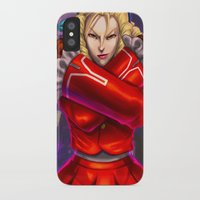 street fighter iPhone & iPod Cases featuring Karin Street Fighter V by Darrold Hansen