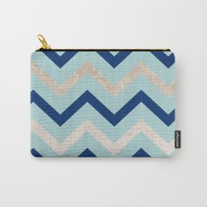 Marine zig zag - golden gradient turquoise Carry-All Pouch