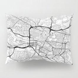 Glasgow Map White Pillow Sham