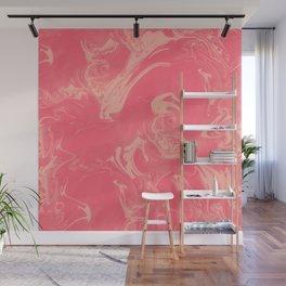 Adrift - Abstract Suminagashi Marble Series - 12 Wall Mural