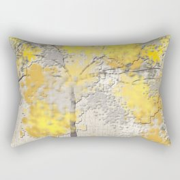Abstract Yellow and Gray Trees Rectangular Pillow