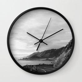Big Sur Sunset Drive Wall Clock