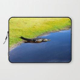 Relaxing Alligator Laptop Sleeve