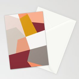 Abstract Geometric 27 Red Stationery Cards