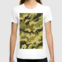 camouflage T-shirts featuring CAMOUFLAGE by I Love Decor