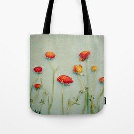 Red Ranunculus Flowers Tote Bag