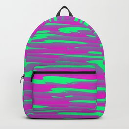 Running luxury pink of art waves and green highlights. Backpack