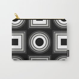 Fade To Black - Abstract, black and white, geometric, 3D effect artwork Carry-All Pouch