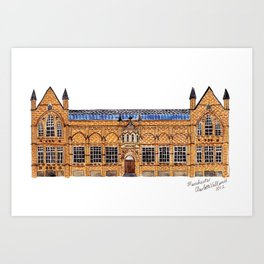 The Holden Gallery in Manchester by Charlotte Vallance Art Print