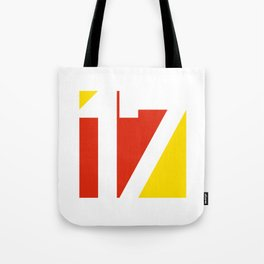 17 in Red and Gold Tote Bag